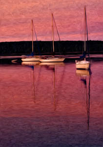 "Award-Digital Special Effects, Tim Lacey, ""Morning Sail Boats"""