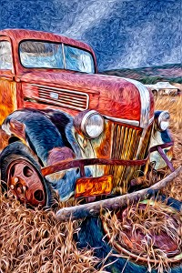 "Second Place-Print Special Effects, Gail Dohrmann, ""Van Gogh's Truck"""