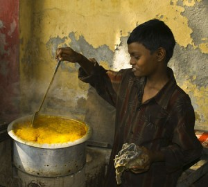 "First Place-Print Realism, Jim Downs, ""The Calcutta Streetside Curry Chef"""